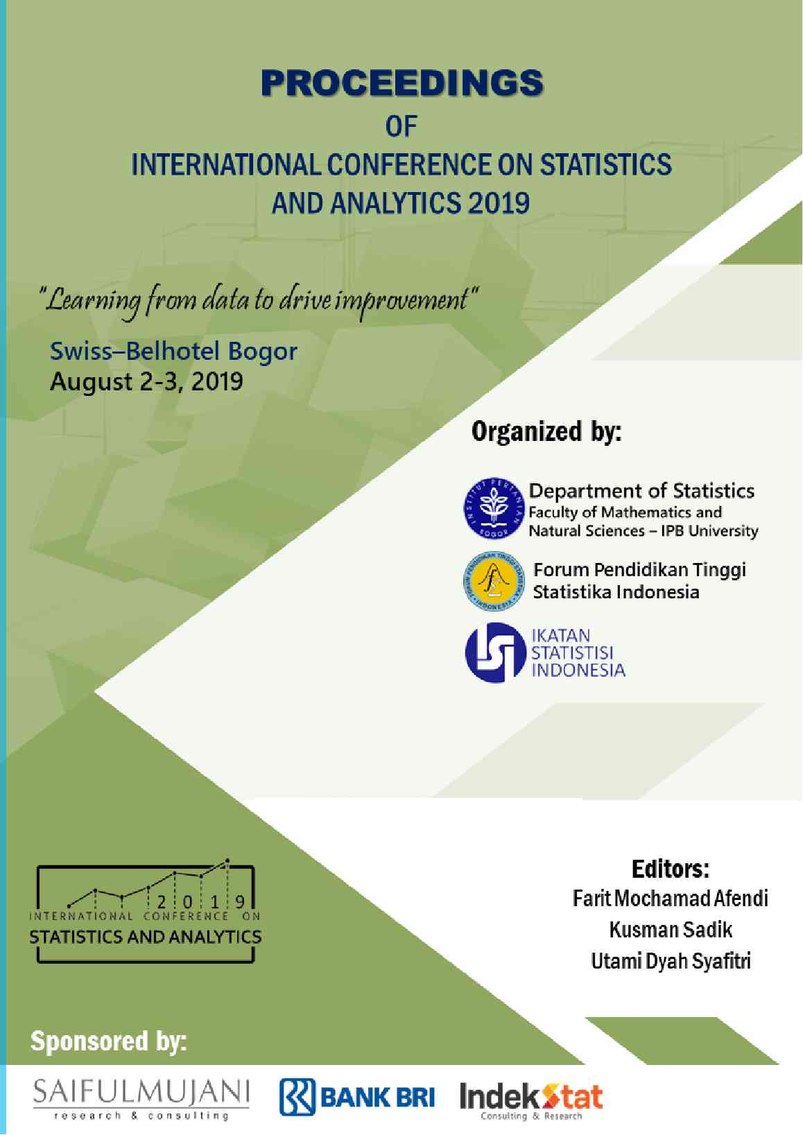 View Proceeding of International Conference on Statistics and Analytics - 2019